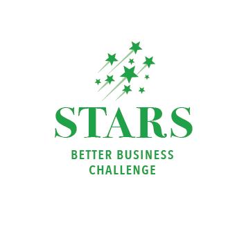 STARS Better Business Challenge logo - round reversed